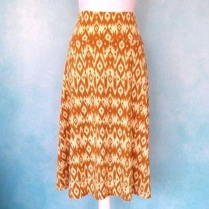 Tribal Print LulaRoe Azure Skirt 2XL